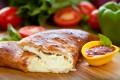 Mozzarella, ricotta and parmesan cheese