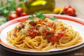 Linguini noodles tossed with tomatoes, basil, olive oil and fresh garlic